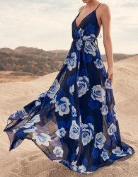 لباس ساحلی آبی