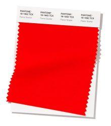 قرمز اسکارلت (Pantone 18-1662 Flame Scarlet)